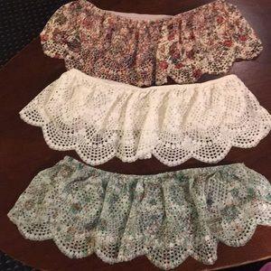 NWOT (3) Victoria's Secret Strapless Bralettes